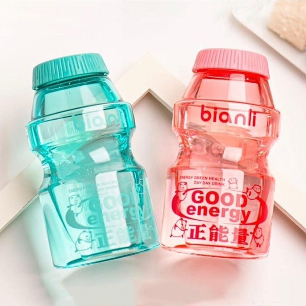 Kawaii botella de energía de moda portátil deporte Camping taza de viaje resistente al calor botella de agua de plástico bonitas botellas de bebida libre de BPA