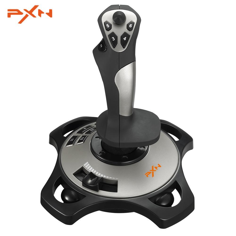 Controlador de juego de mando PXN-2113 con cable PXN de 4 ejes para juegos de Pc