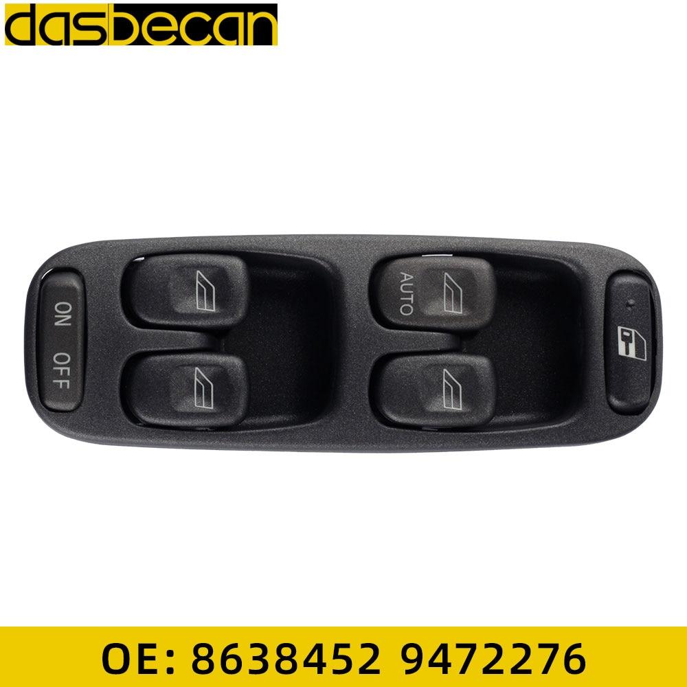 Carro auto porta de vidro levantador esquerda controle principal janela elétrica interruptor mestre painel para volvo v70 s70 xc70 95-00 8638452 9472276