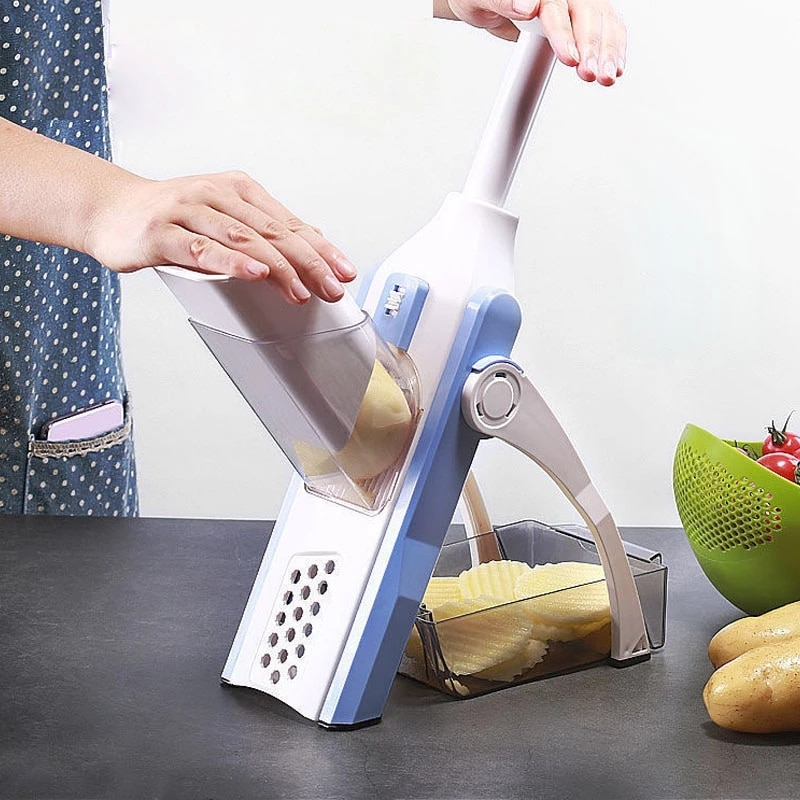 Vegetable Cutter Slicer Manual Potato Chopping Artifact Stainless Steel Foldable Grater Fruit Cutting Tools Kitchen Accessories fashion new kitchen multi function vegetable cutting artifact potato lattice making shredded artifact slicer onion cutter