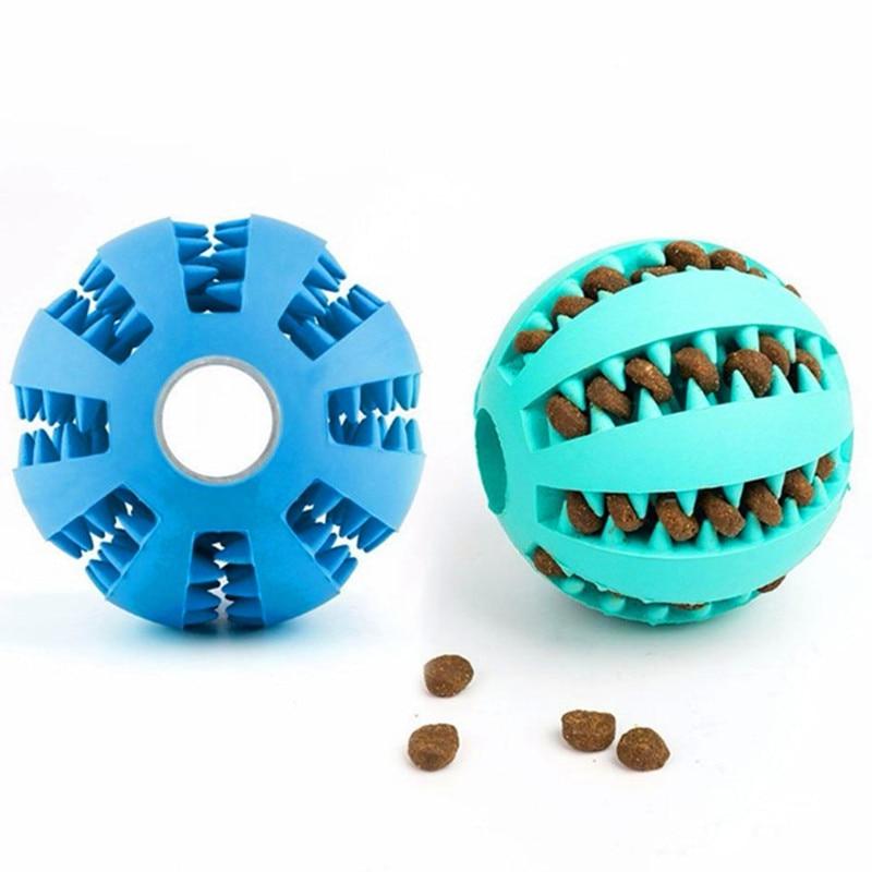 Juguetes para perros juguete pelota interactiva, divertida y elástica perro Juguete para perro de bola de la comida Extra-pelota de goma resistente