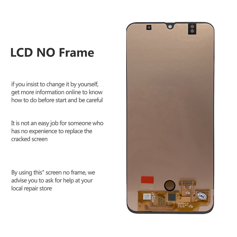For Samsung Galaxy A50 OLED LCD Display Touch Screen Digitizer With Fingerprint On SM A505F A505 A 50 505F Sm-A505F 100% Test enlarge