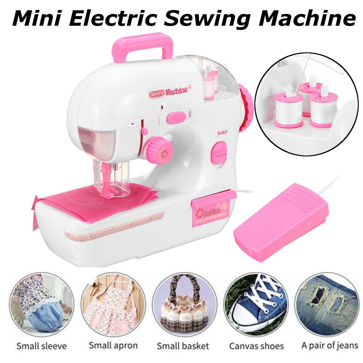 Minimáquina DE COSER eléctrica multifuncional para el hogar, aguja de coser rápida, Mini máquina de coser inalámbrica para ropa