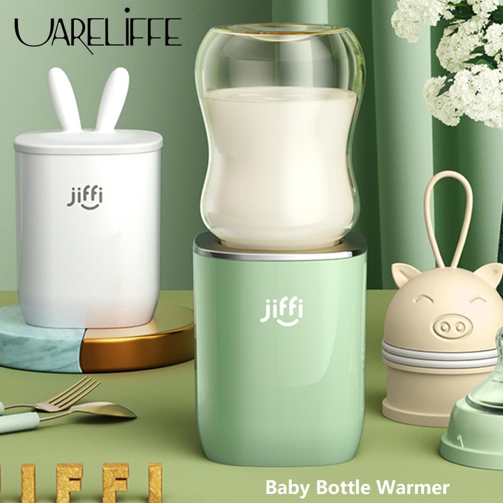 uareliffe portatil bebe garrafa aquecedor de leite materno rapido controle temperatura