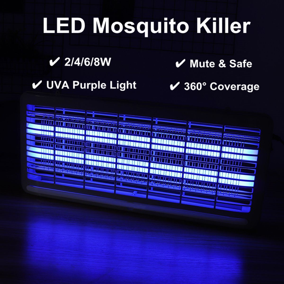 Indoor Electric Insect Killer LED UV-A Electronics Mosquito Repeller Pest Fly Bug Zapper Catcher Tra