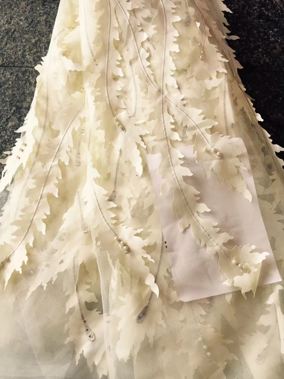 French Lace Fabric with Stones African Lace Fabrics 5 Yards Wholesale Flower Nigerian Lace Fabric for Wedding Dresses CD1822