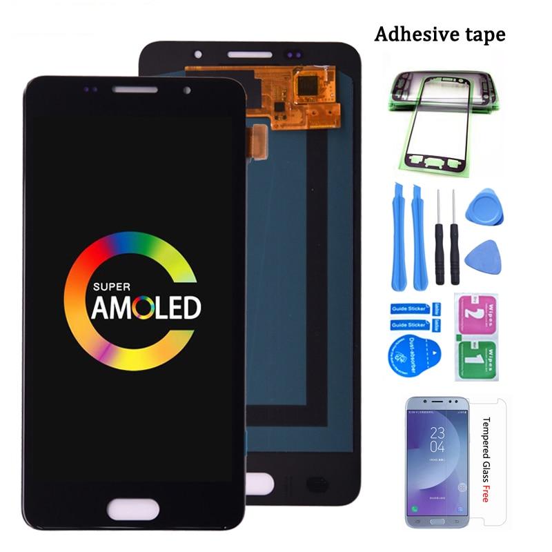 سوبر AMOLED عرض لسامسونج غالاكسي A5 2016 Duos LCD عرض تعمل باللمس محول الأرقام الجمعية لسامسونج A510 A510F lcd