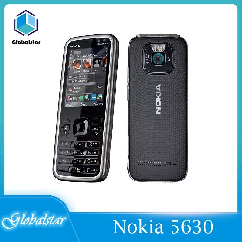 Перейти на Алиэкспресс и купить Nokia 5630 Восстановленный Оригинальный Nokia 5630 XpressMusic сотовый телефон разблокированный 2,2 дюймов GSM 2G/3G 3.0MP 128 RAM 860mah