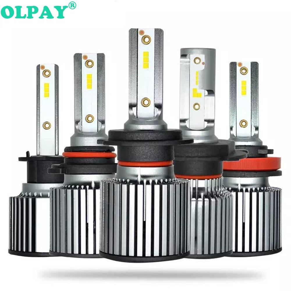 OLPAY 2 uds coche faro F32 H7 LED H4 H1 H3 H8 H9 H11 9005, 9006, 9007, 50W 5000LM Philips Chip Auto faro 6000K bombilla de luz