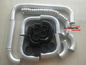 "2.2"" 57mm Aluminum Intercooler Turbo Piping + T-Clamp kits + Hose"