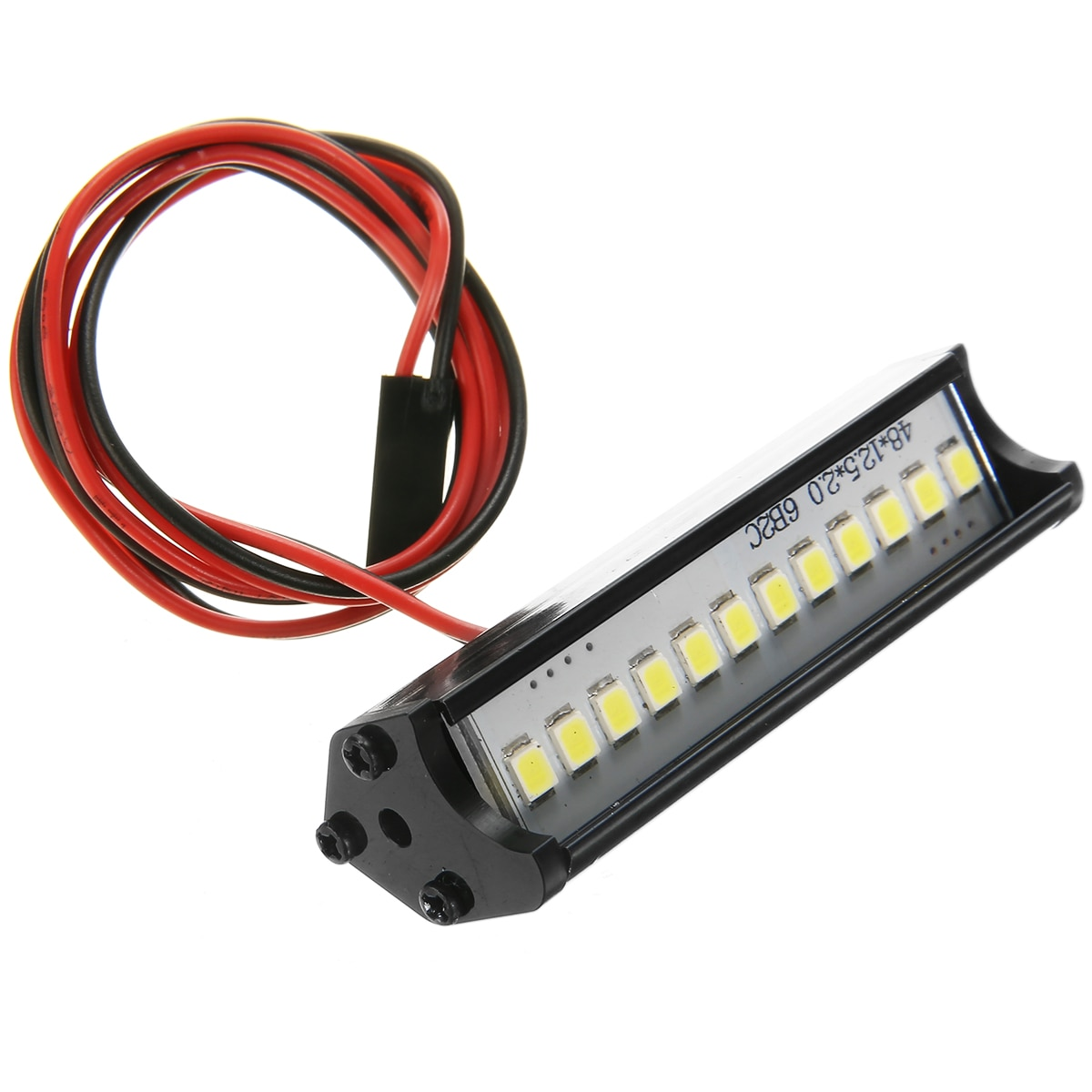 Dc 5v-7.4v 12led metal rc rastreador barra de luz telhado lâmpada barra de luz super brilhante peças de reposição apto para 1/10 rc rastreador