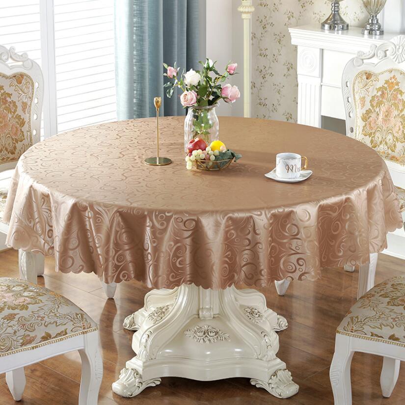 NOVA Floral Rodada Toalha de mesa De Cozinha De Plástico PVC Toalha De Mesa Oilproof Pastoral Decorativo Elegante Tampa De Tabela Tecido À Prova D Água