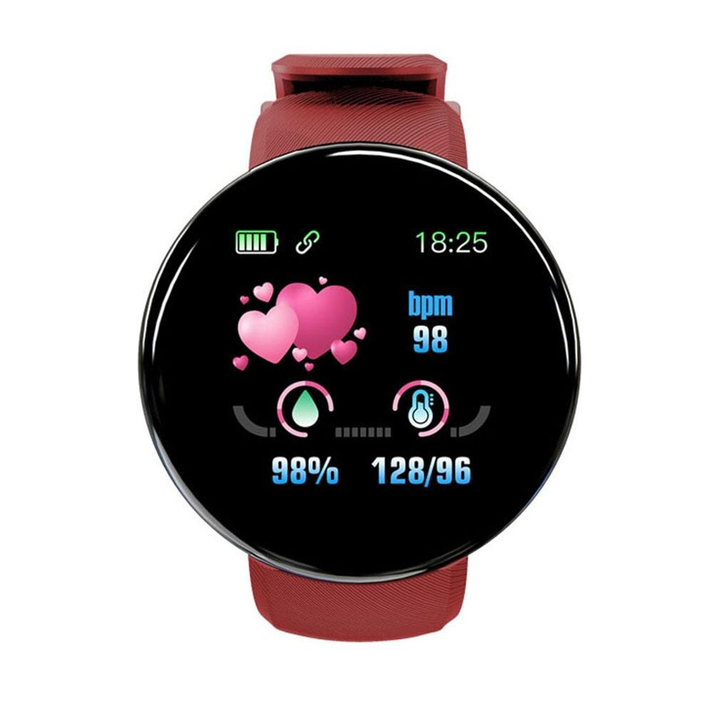 D18 Smart Watches Electronic women Blood Pressure Heart Rate Monitor Fitness Pedometer Sport support whatsapp Smart Bracelet men