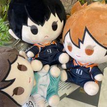 Anime Haikyuu!! Tobio Kageyama Shoyo Hinata Oikawa Tooru Sveglio Della Bambola Della Peluche Farcito Giocattolo Cambiamento Vestito Dress Up Abbigliamento Bambola 20 centimetri