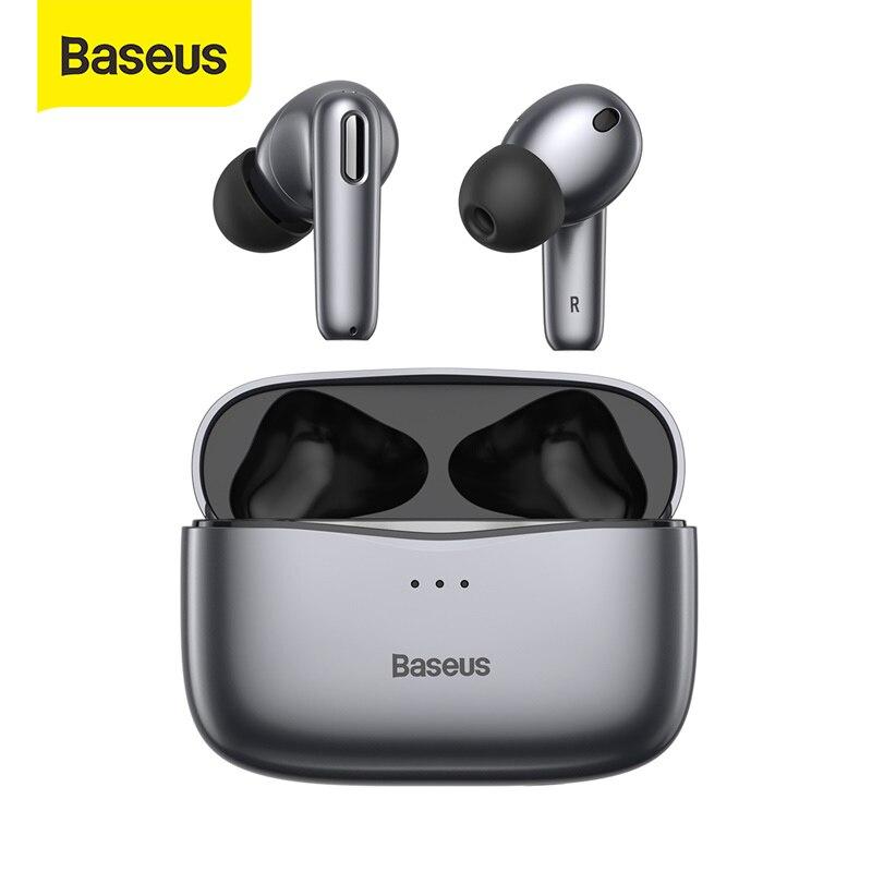 Baseus-auriculares inalámbricos S2 ANC con Bluetooth 5,0, dispositivo de Audio con cancelación...