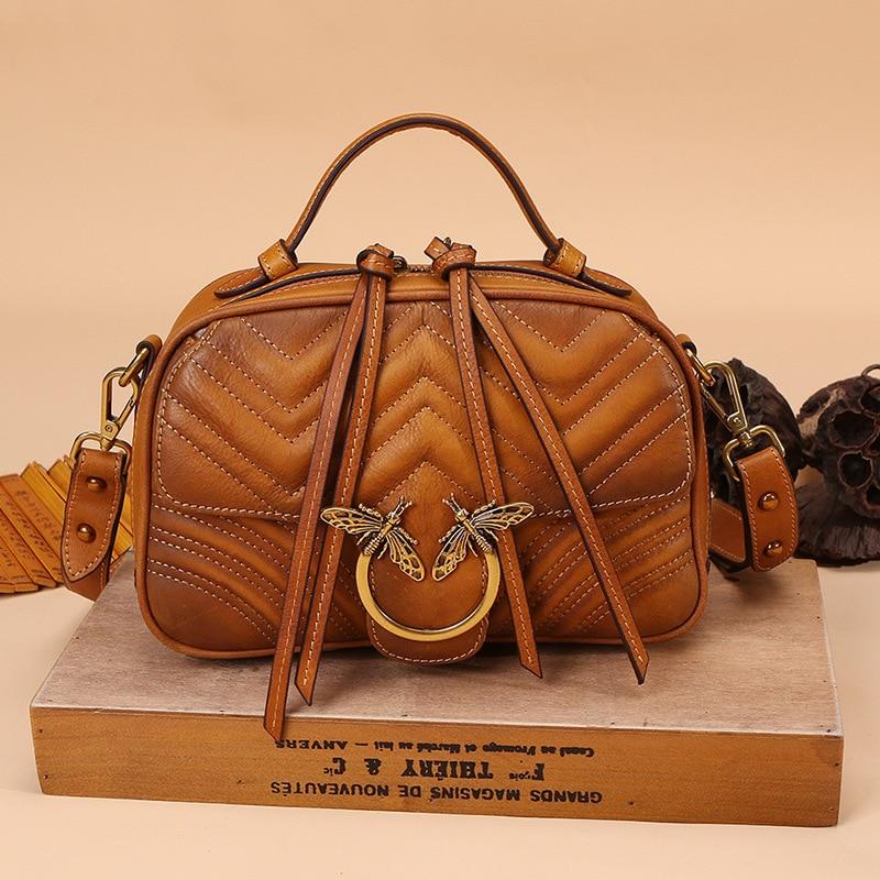 حقائب يد جلدية ريترو للنساء ، كتف واحد ، قطري ، حقيبة نسائية ، صغيرة ، مربعة ، مجموعة جديدة 2020