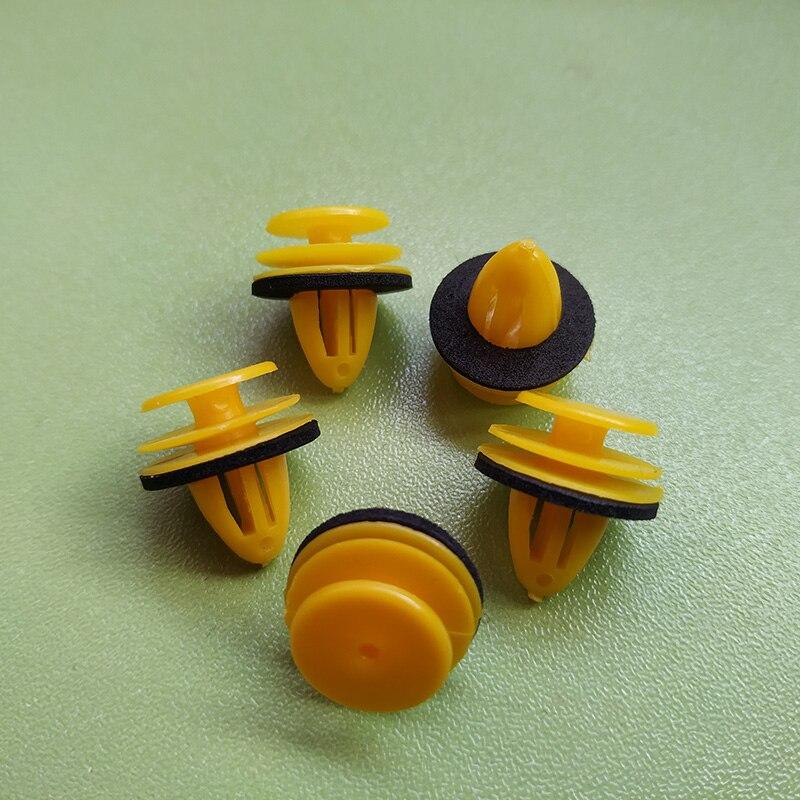 15Pcs Car Door Trim Panel Retainer Clips Fastener 9mm Hole Plastic Rivets For Hyundai Nissan Infiniti Car-styling
