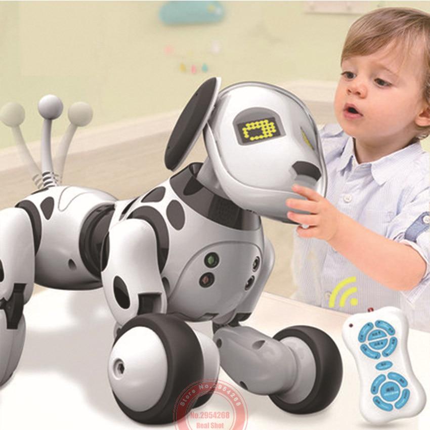 Программируемый 2,4G Беспроводной интеллектуальный пульт дистанционного управления Управление собака, работы в режиме разговоров ходить и танцевать интеллигентая (ый) Электронные питомцы игрушки, RC Роботы и Животные
