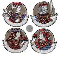 10pcslot embroidery patch poker king david alexander caesar charlemagne clothing decoration diy iron heat transfer applique