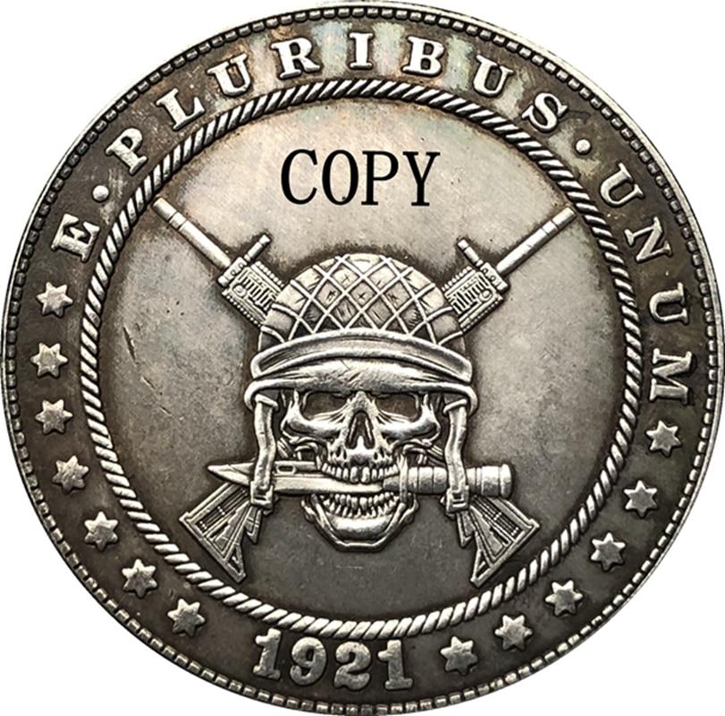 Копилка Hobo Nickel 1921-D для монет, США, морганский доллар, тип 189