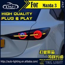 AKD Car Styling Tail Lamp for Mazda 3 Tail Lights Mazda3 Axela Sedan LED Tail Light Dynamic LED Signal DRL Rear Lamp Accessories