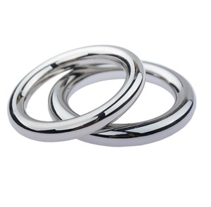38.5mm Silver Ghost Exerciser Stainless Steel Penis Ring Delay Foreskin Block Metal Round Couple Male Man Cock Sex Toys Products