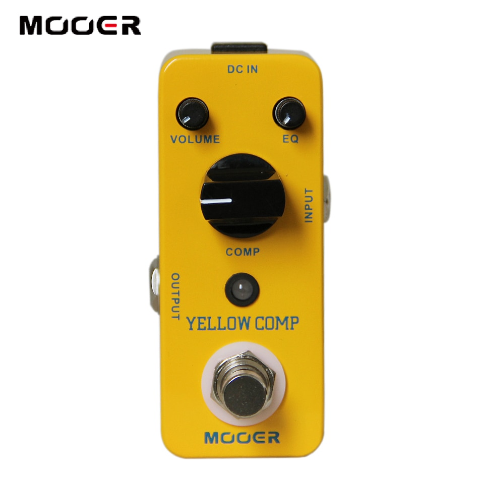 Mooer amarelo comp micro mini clássico efeito compressor óptico pedal verdadeiro bypass escudo de metal completo acessórios guitarra