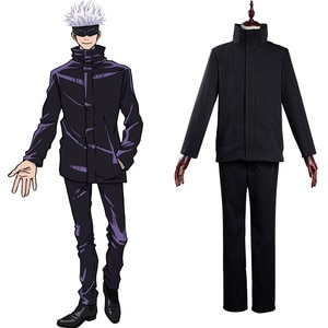 Anime Jujutsu Kaisen Cosplay Satoru Gojo Cosplay Costume School Uniform Outfits Halloween Carnival Suit