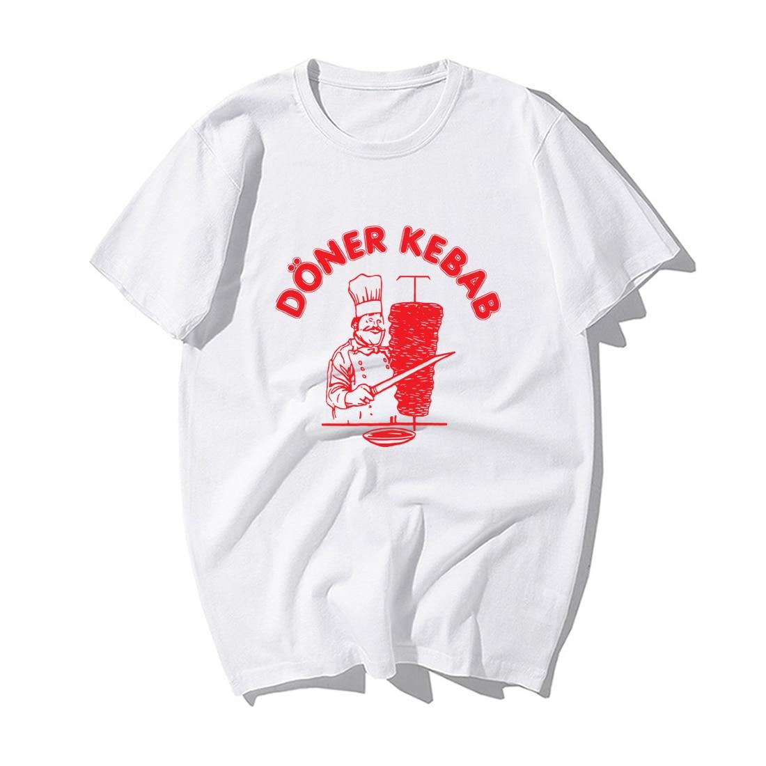 Newest Funny Doner Kebab Donerspie Print Tshirt Summer Cotton Short Sleeve Tshirts Kebab T-Shirts Men'S Harajuku Streetwear