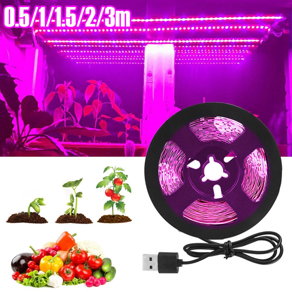 3m led grow light strip full spectrum uv lamps for plants waterproof phyto tape with adapter and switch for greenhouse grow tent 3M LED Grow Light Strip Full Spectrum UV Lamps for Plants Waterproof Phyto Tape with Adapter and Switch for Greenhouse Grow Tent
