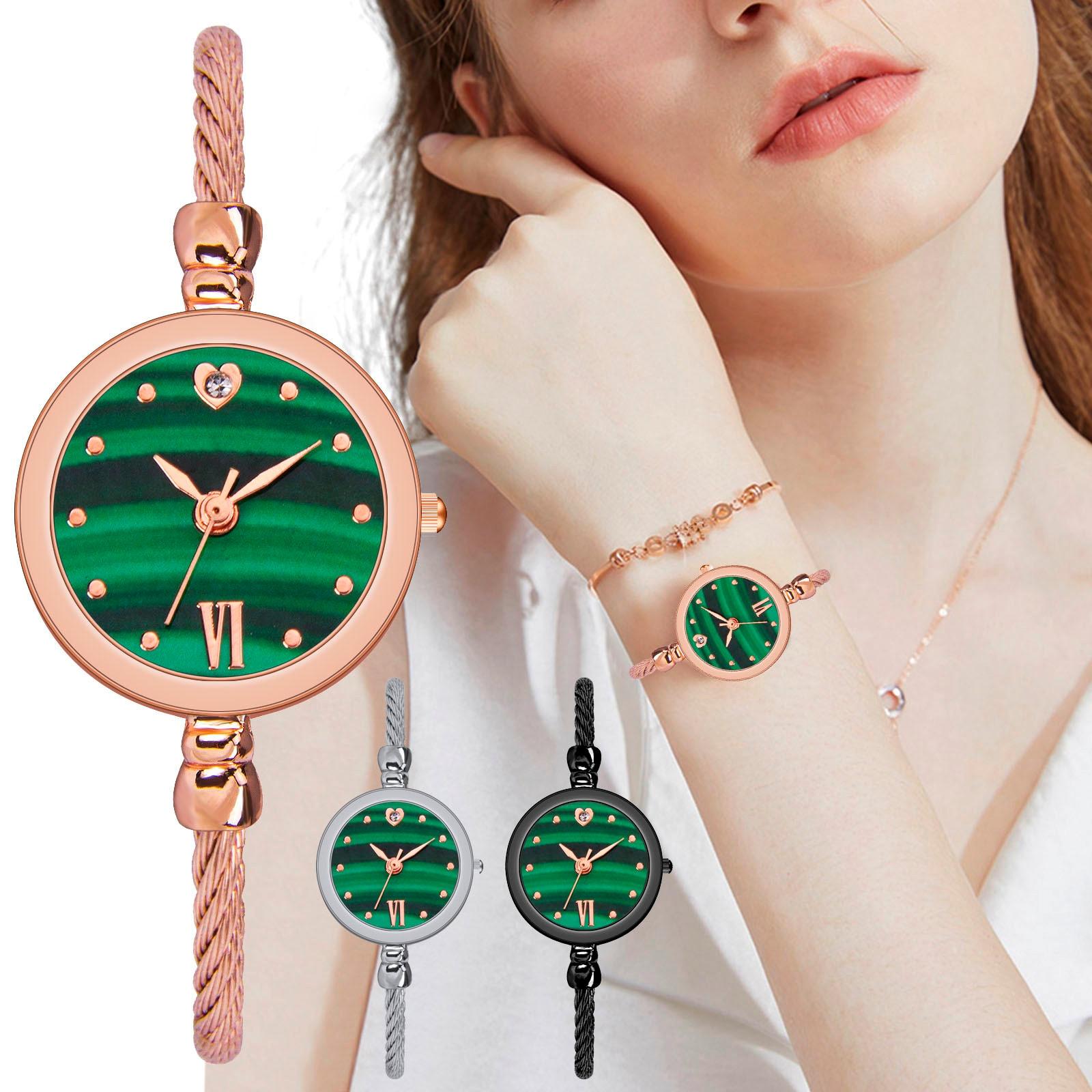 Fashion Green Mirror Quartz Wristwatches Woman 2021 Часы Женские Наручные Luxury