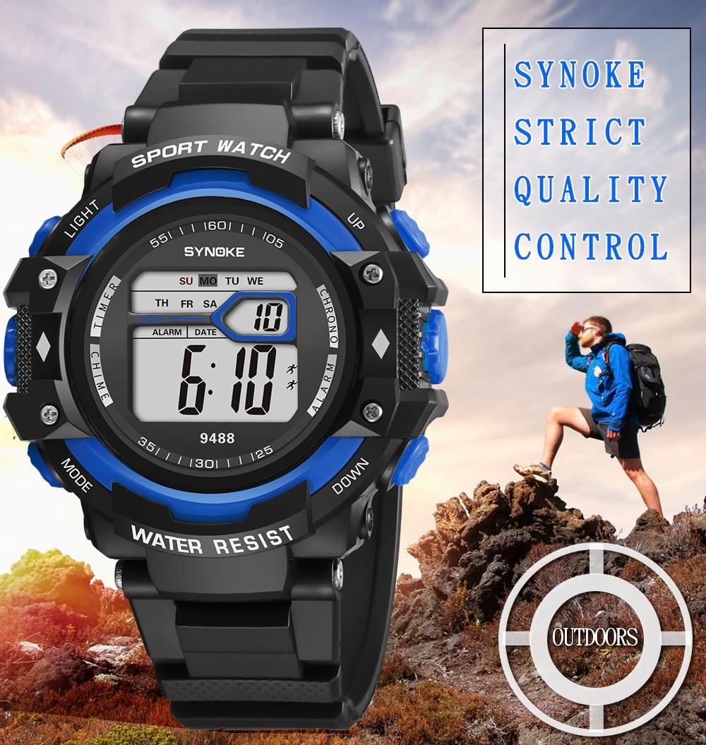 Multi-Function 30M Waterproof Watch LED Digital Double Action Watch Digital Military Luxury Wristwat