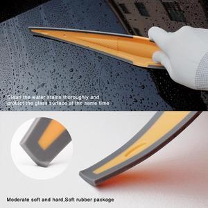 Image 2 - Скребок EHDIS для автомобильного окна, тряпка из углеродного волокна, виниловый скребок для удаления снега на лобовом стекле, инструмент для тонирования и мытья
