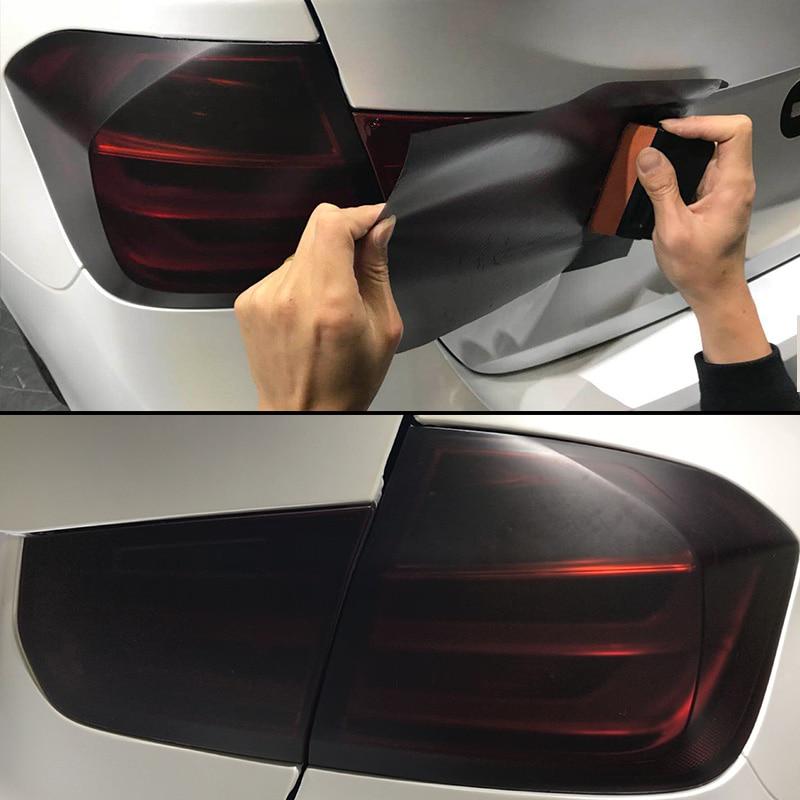 30cm x 200cm Headlights Tail Lights Car Matt Black Tint Vinyl Wrap 78.7 inch Fog Latest Useful Light Durable New Hot Set