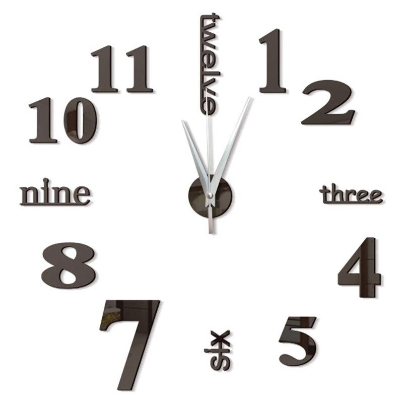 3d настенные часы современный дизайн кухонное декоративное зеркало самоклеющиеся цифровые винтажные большие настенные часы на настенные часы Новые
