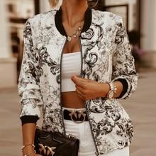 Women Jacket Thin Printing Hoody 2020 Fashion Basic Long Sleeve Coat Ladies Casual Windbreaker Stand