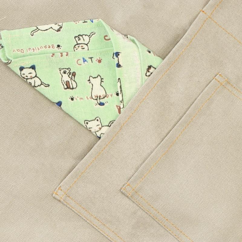 Canvas Functional Pockets Apron Korean fashion Customized Coffee Milk Tea Shop Hairdressing  Work Clothes enlarge