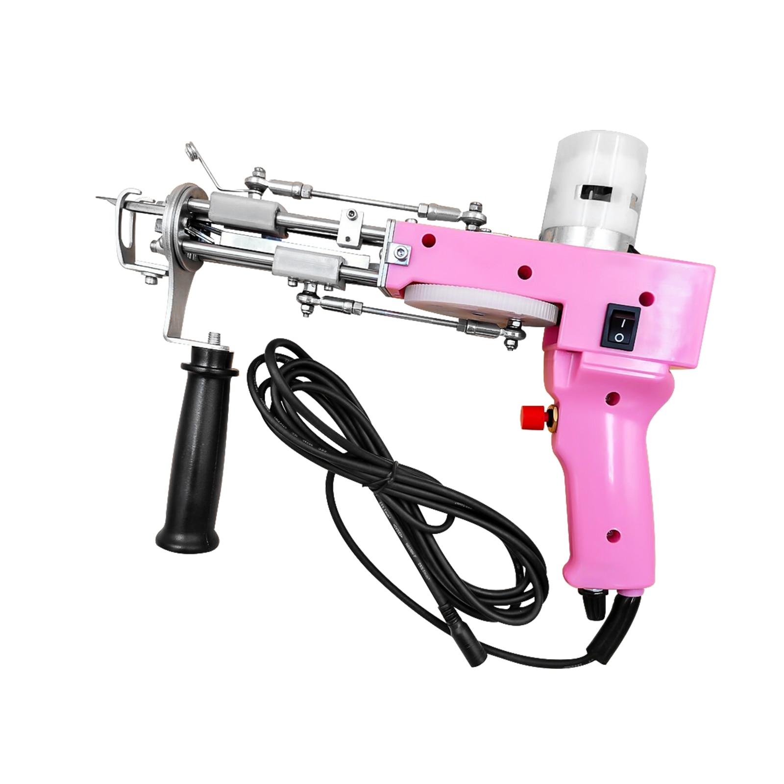Pink Electric Carpet Tufting Gun Carpet Weaving Flocking Machine Industrial Embroidery Machine Loop Pile Knitting Machine enlarge