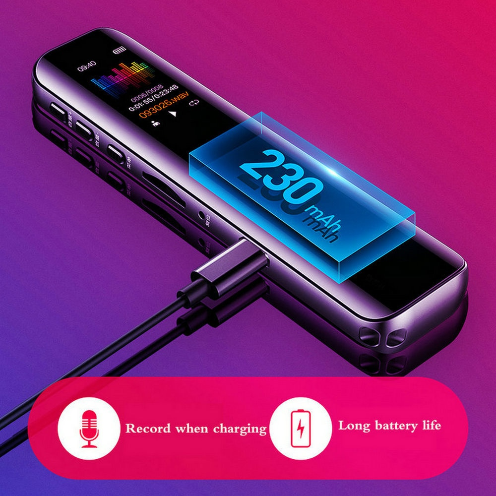 Voice Activated Portable Recorder MP3 Player Telephone Audio Recording Dual Arc Microphone Digital Voice Recorder Dictaphone enlarge