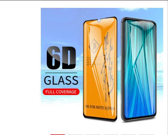 10PCS 6D Tempered Glass For Xiaomi Mi Redmi Note 8 Pro Full Glue Cover Screen Protector For Redmi Note 8 Note8 TTempered Glass