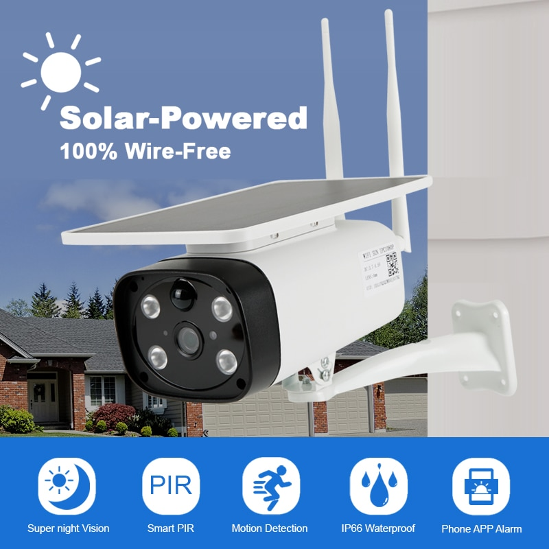 IP Wifi Kamera Solar Panel Im Freien HD 1080P Drahtlose Kamera CCTV Sicherheit Überwachung Builtin Akku Low Power