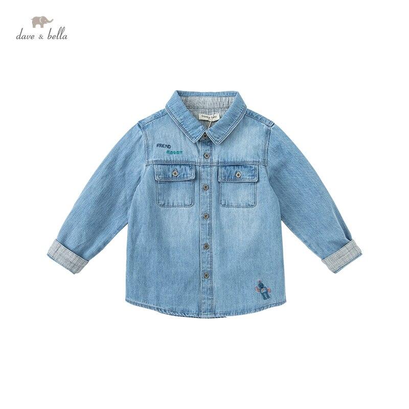 dbx14759 k dave bella 5y 13y outono bebe meninos camisas de manga longa criancas