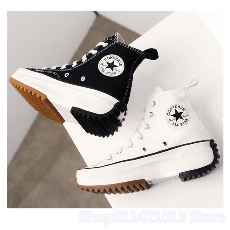 2020 Converse- X JW Anderson Run Star Hike Platform High Top Comfortable White Black Sneaskers Woman