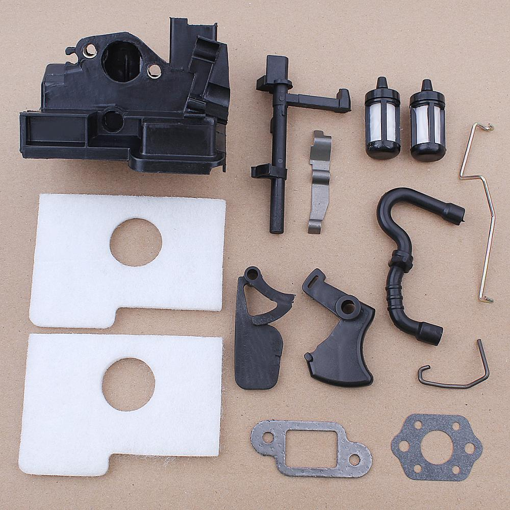 Air Filter Housing Throttle Choke Rod Trigger Kit For Stihl MS170 MS180 018 017 Fuel Filter Line Hose Chainsaw Spare Parts throttle choke rod intake manifold air filter breather kit fit husqvarna ms180 ms180c ms170 018 017 chain saw parts