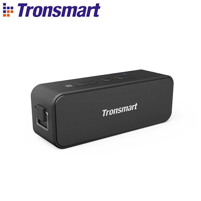 Tronsmart T2 Plus Bluetooth 5.0 Speaker 20W Portable Speaker 24H Column IPX7 Soundbar with NFC, TWS,Voice Assistant,Micro SD