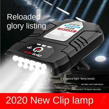 LED Cap Light Clip Hat Headlight Head Lamp Motion Induction Portable Rechargeable Waterproof Lamp Fishing Dropshipping
