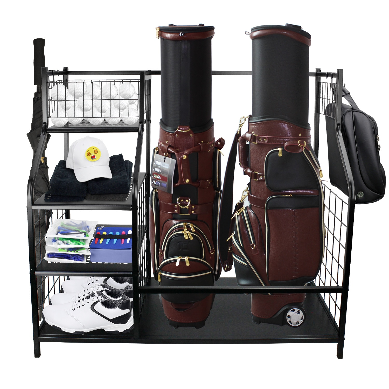 CRESTGOLF Golf Storage Garage Organizer Extra Large Size to Perfectly Store & Organize Golf Bag & Golf Accessories Space Saving