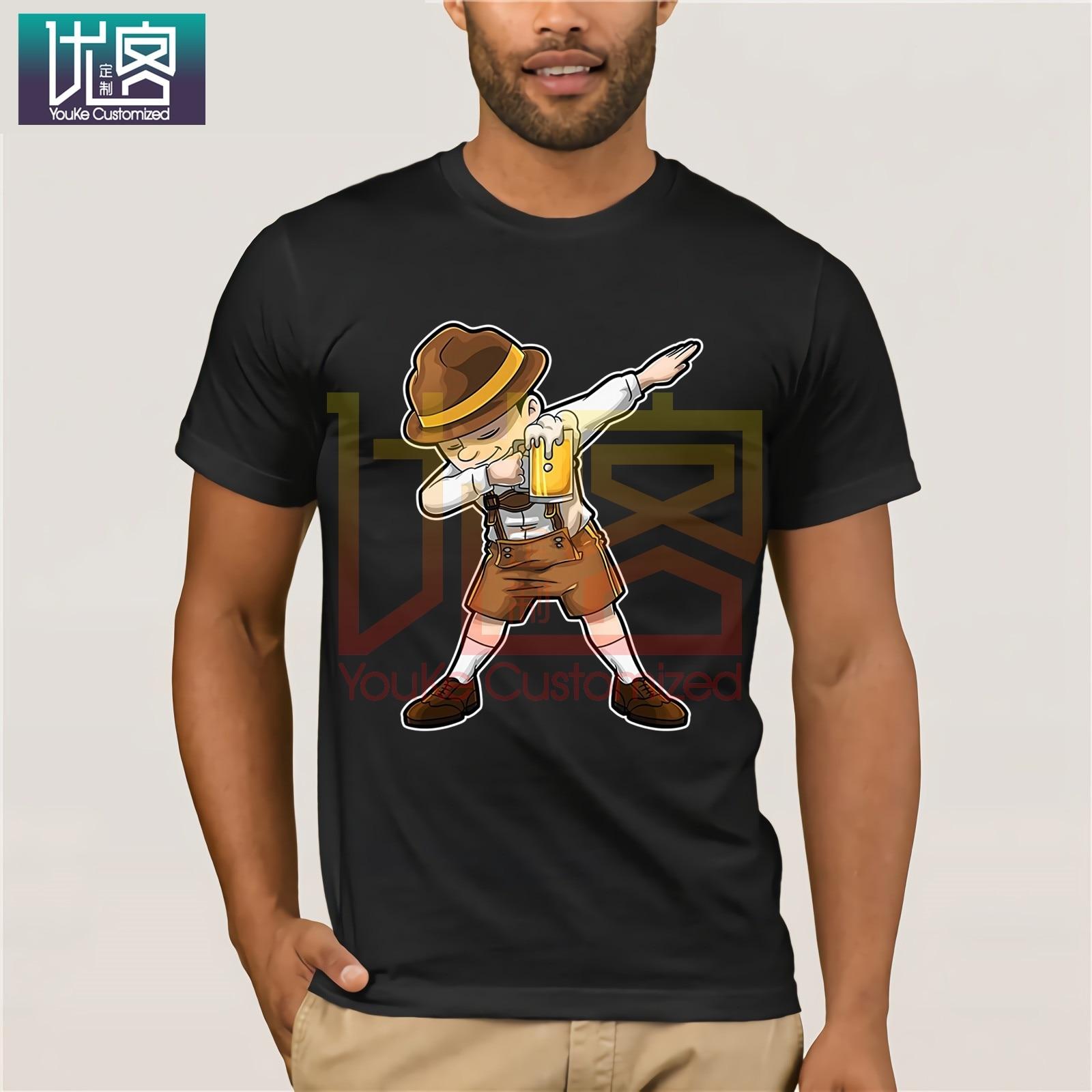 Moda para hombres 2020 Summe divertida camiseta de verano Homme Oktoberfest Lederhosen Dabbing camiseta cerveza camarero Dab Casual Tee