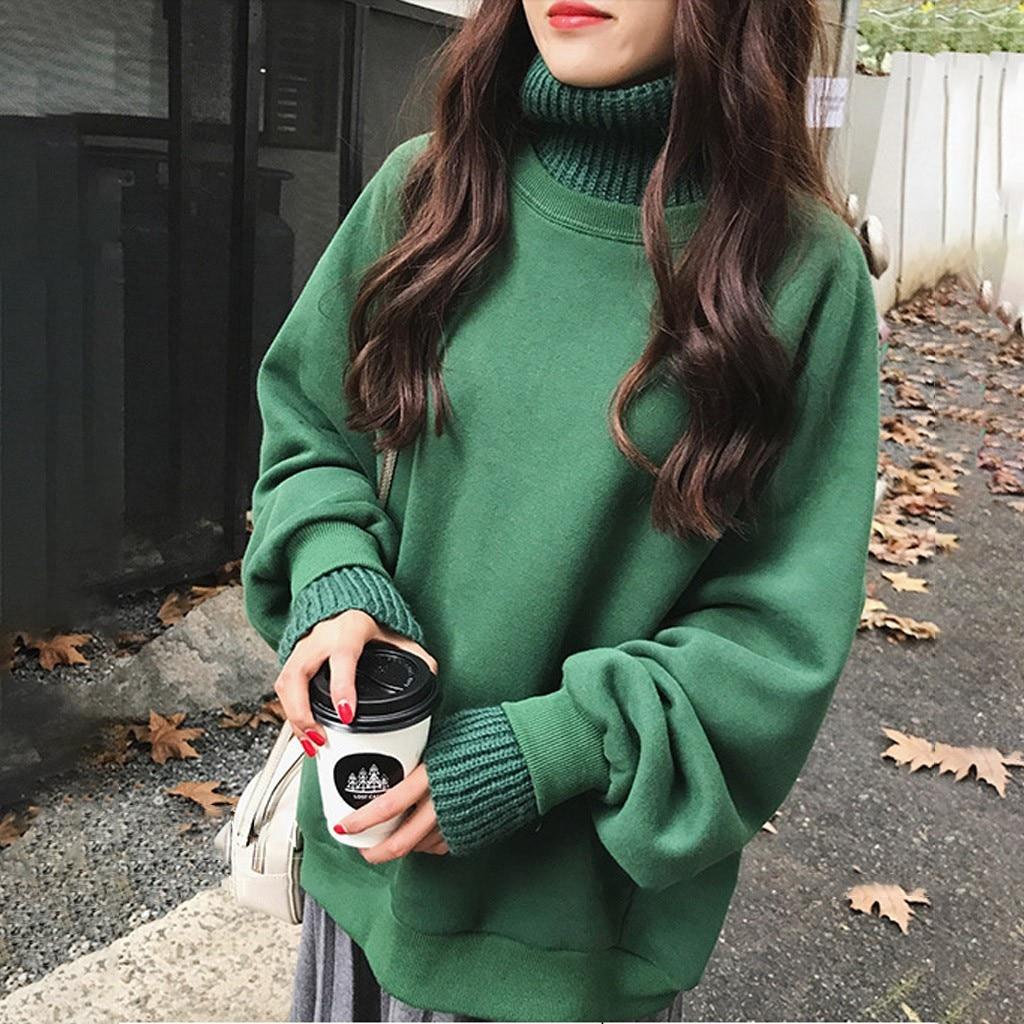 Модная Harajuku Толстовка с капюшоном, свободный однотонный топ с капюшоном, Женская толстовка с длинным рукавом, Женский Осенний пуловер, улич...