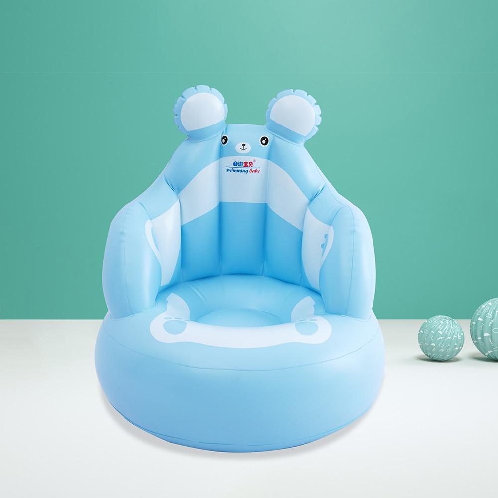 Baby Kid Children Inflatable Bathroom Sofa Armchair Seat Learn Portable